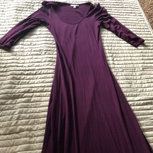 Charming Charlie purple maxi bodycon dress